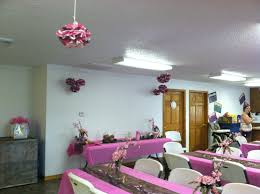 baby shower camo you can hang those puff ball things from ceiling or put on tables