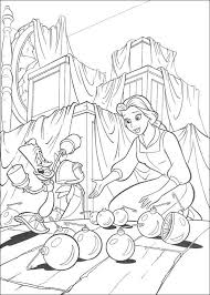 kids fun 41 coloring pages beauty beast