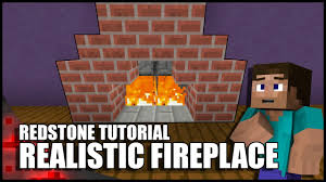 minecraft realistic working fireplace youtube