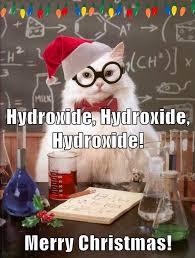 it u0027s a chemistry cat christmas ho ho ho science caturday
