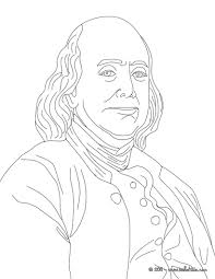 benjamin franklin coloring pages hellokids com