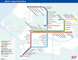The Netherlands Map Official Map Rotterdam Metro The Netherlands Transit Maps