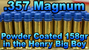 357 magnum powder coated 158gr swc in the henry big boy youtube
