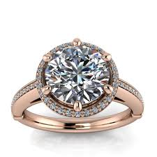 8mm diamond diamond setting 8mm moissanite engagement ring six prong violet