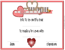 printable romantic gift certificates love certificate templates professional sles templates