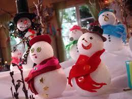 glittered snowballs snowmen and ornaments diy