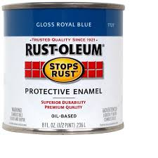 rust oleum stops rust 1 qt gloss royal blue protective enamel