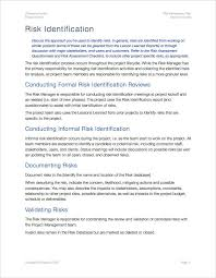 risk management plan template apple iwork pages numbers spreadsheets