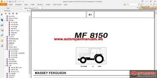 massey ferguson mf 8150 tractor parts catalog auto repair manual