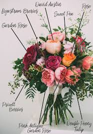 roses colors berry hued bouquet breakdown fiftyflowers the