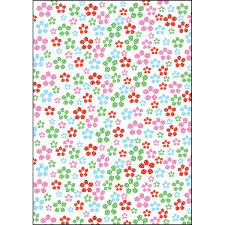 flower wrapping paper multi flowers luxury sided gift wrap