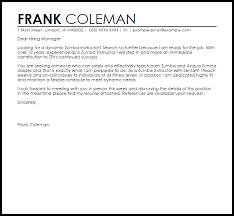 letter for trainer