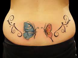 lower back butterfly designs and