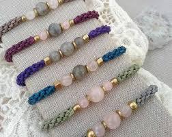 rose quartz stone bracelet images Macrame bracelet with labradorite and rose quartz bracelet yoga jpg