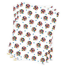 3 sheets elmer folded gift wrap wrapping paper birthday present