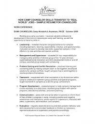 Restaurant Supervisor Job Description Resume Camp Counselor Job Description For Resume Resume For Your Job