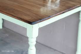 chalk paint farmhouse table faux aging with homemade chalk paint creative home