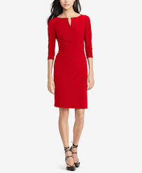 lauren ralph lauren keyhole faux wrap dress dresses women macy u0027s