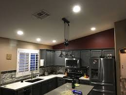installed 4 6 inch led s in kitchen added one 4 inch led over recessed lightlight