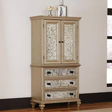 Shaker Style Armoire Home Styles Visions Silver Gold Champagne Finish Armoire 5576 45