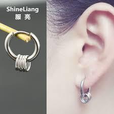 non metal earrings 2018 drop earrings for men women silver stainless steel material