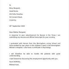 Cover Letters For Nursing Jobs Job Cover Letter Format Choice Image Cover Letter Ideas