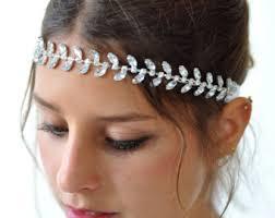 grecian headband grecian goddess headband gold bridal headband rhinestone vine