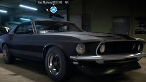 Black Mustang Boss 302 Ford Mustang Boss 302 1969 Need For Speed 2016 Test Drive