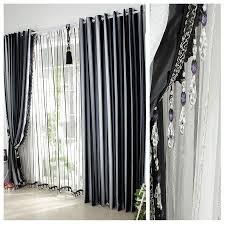 Curtain Designs For Bedroom Windows Exterior Black And White Curtains For The Luxurious Atmosphere In