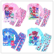 3y 9y children pj mask pajamas 4style boys girls character