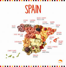 Spain On A Map by Your Guide To Spanish Food Infographic