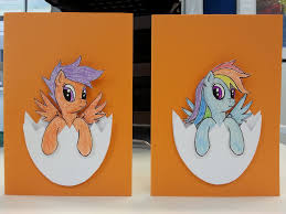 Mlp Easter Eggs Mlp Cards Scootaloo And Rainbow Dash Easter Eggs By Funkybacon On