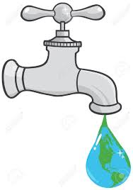 leaking faucet the earth planet droplet royalty free cliparts