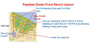 papakea resort map directions to papakea resort with direction map