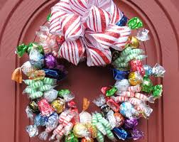 candy wreath christmas corporate gifts peppermint unique