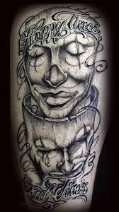 laugh now cry later masks tattoo image photo 1 2017 real photo