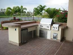 concrete countertops prefab outdoor kitchen grill islands lighting