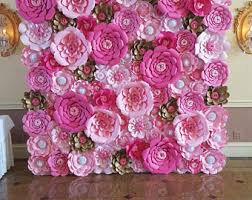 paper flowers paper flower wall etsy