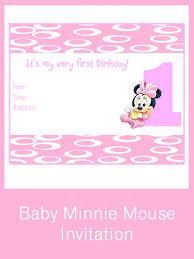 free printable minnie mouse 1st birthday invitations iidaemilia