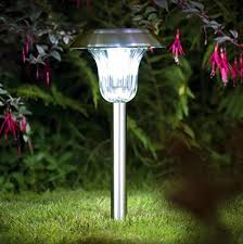 Stainless Steel Outdoor Lighting Dual Color Led Stainless Steel Solar Lights Outdoor Sogrand Solar