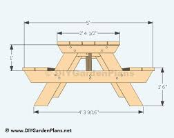 Free Octagon Picnic Table Plans by Best 25 Picnic Table Plans Ideas On Pinterest Outdoor Table