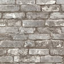 2604 21259 pewter exposed brick brickwork wallpaper by beacon house