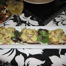 wasabi mustard seared scallops with wasabi mustard reduction