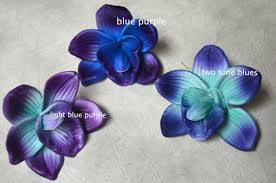 blue and purple flowers blue purple orchid blooms cake toppers decoration flowers