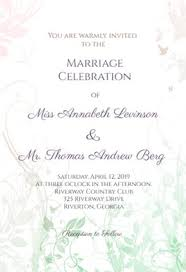 marriage invitation muted floral free wedding invitation template greetings island