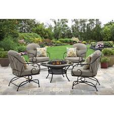 Fire Pit And Chair Set Better Homes And Gardens Myrtle Creek 5 Piece Fire Pit Chat Set