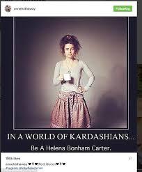 Meme Instagram - anne hathaway removes instagram meme throwing shade at kardashians