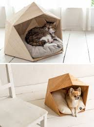 these geometric pet beds are perfect for any hip cat or dog