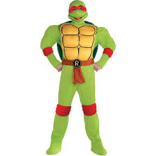 Ninja Turtle Womens Halloween Costumes Raphael Muscle Costume Size Teenage Mutant Ninja Turtles