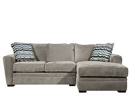 Raymour And Flanigan Chaise Artemis Ii 2 Pc Microfiber Sectional Sofa Gypsy Vintage